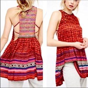 Free People BoHo Knit Tunic Sz L